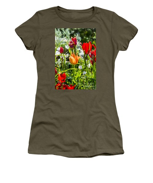 Women's T-Shirt (Junior Cut) featuring the photograph Tulip - The Orange One by Arik Baltinester