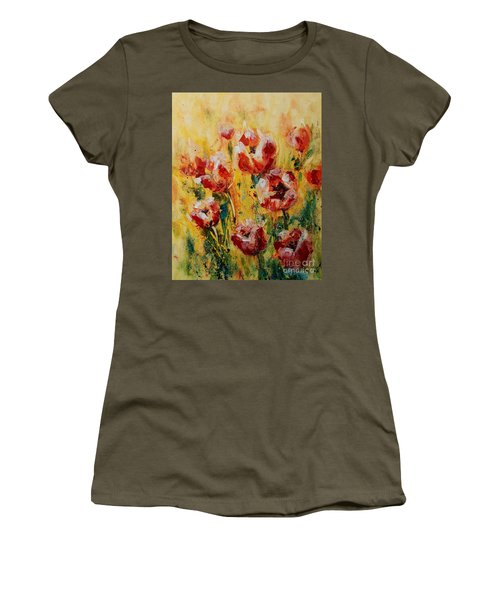 Tulip Waltz Women's T-Shirt (Athletic Fit)
