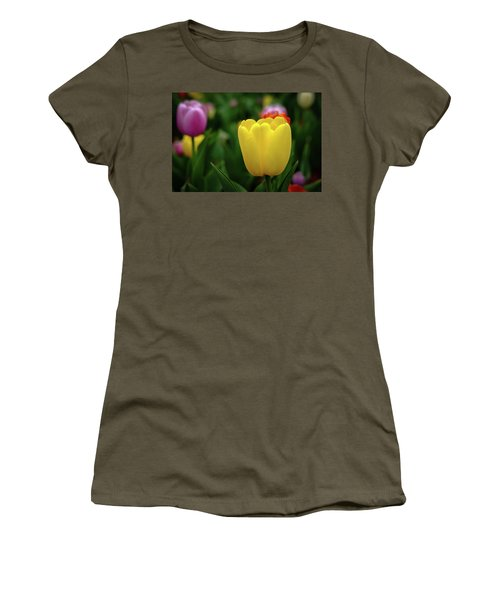 Tulips At Campus Women's T-Shirt (Athletic Fit)