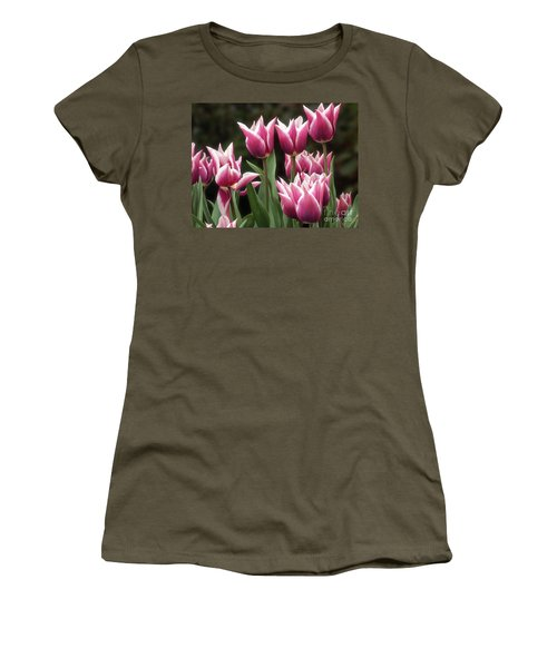 Tulips Bed  Women's T-Shirt (Athletic Fit)