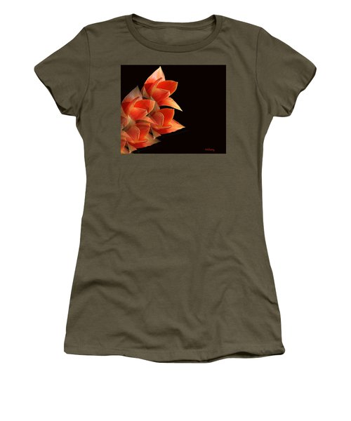 Tulips Dramatic Orange Montage Women's T-Shirt (Athletic Fit)