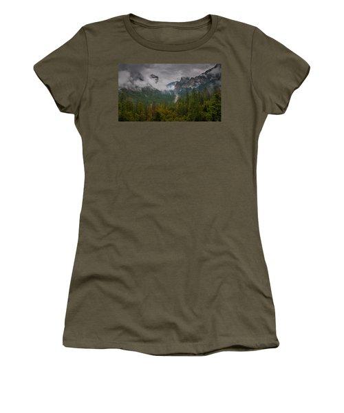 Tunnel View Women's T-Shirt (Junior Cut) by Ralph Vazquez