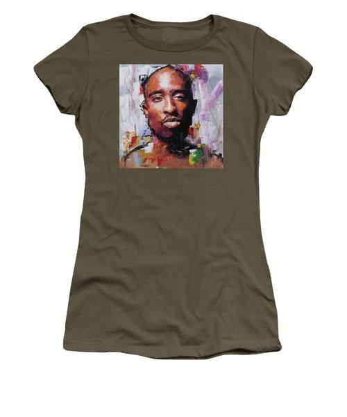 Tupac Women's T-Shirt (Junior Cut) by Richard Day