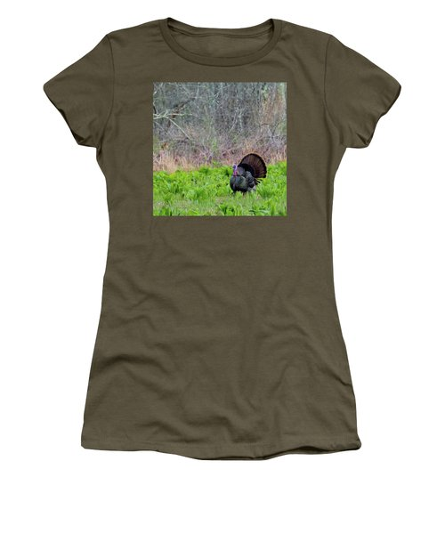 Women's T-Shirt (Junior Cut) featuring the photograph Turkey And Cabbage Square by Bill Wakeley