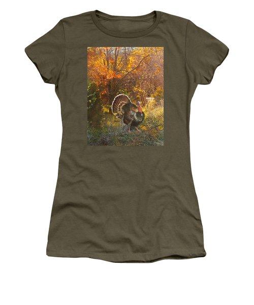 Turkey In The Woods Women's T-Shirt