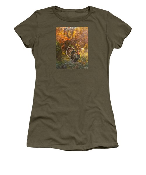 Turkey In The Woods Women's T-Shirt