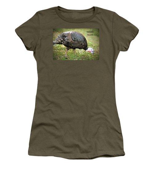 Turkey Season Women's T-Shirt (Junior Cut) by Marion Johnson