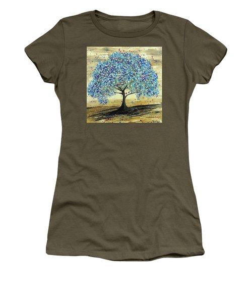 Turquoise Tree Women's T-Shirt