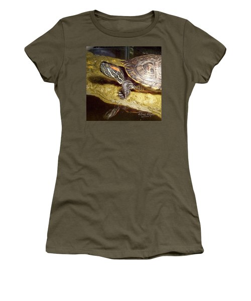 Turtle Reflections Women's T-Shirt (Athletic Fit)
