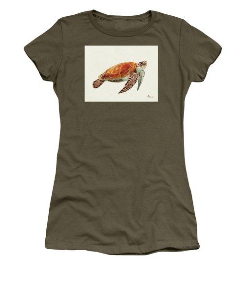 Turtle Watercolor Women's T-Shirt