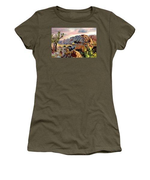 Twilight At Joshua Women's T-Shirt (Junior Cut) by Ron Chambers
