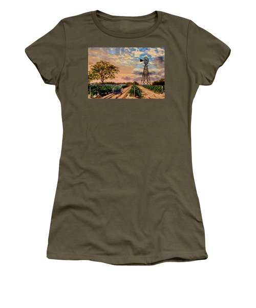 Twilight At The Vineyard Women's T-Shirt (Athletic Fit)