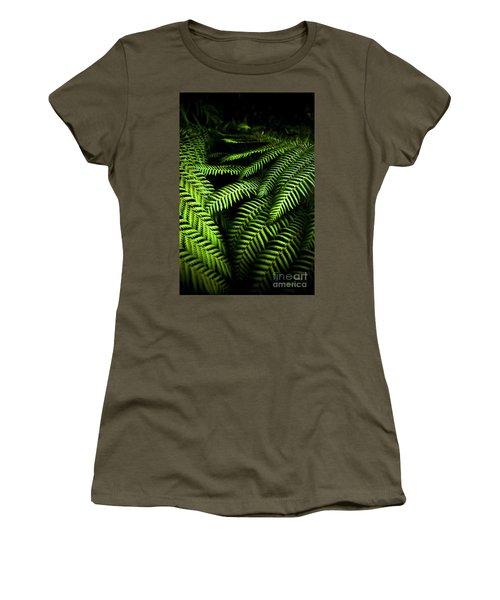 Twilight Rainforest Fern  Women's T-Shirt