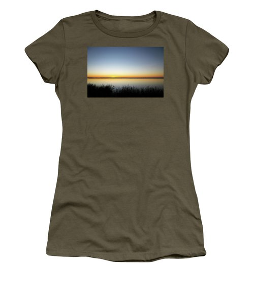 Twilight Stillness Down By The Beach Lagoon Women's T-Shirt