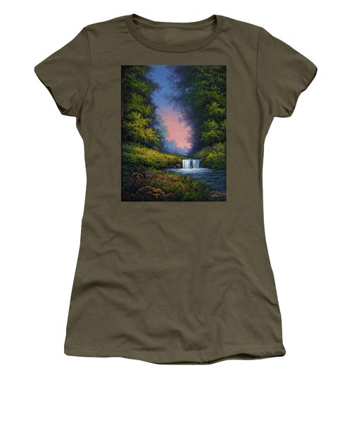 Women's T-Shirt (Junior Cut) featuring the painting Twilight Whisper by Kyle Wood