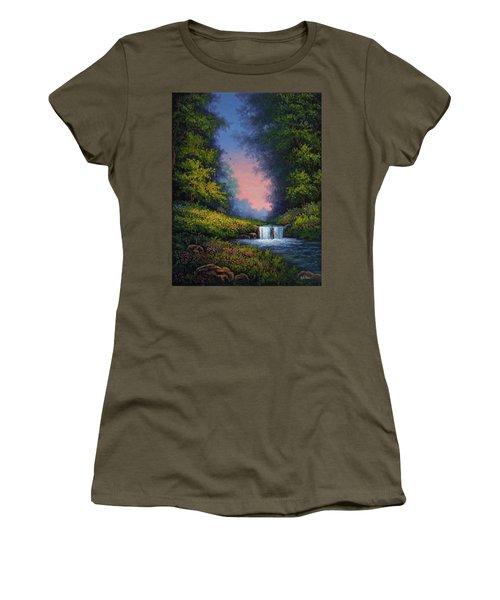 Twilight Whisper Women's T-Shirt (Junior Cut) by Kyle Wood