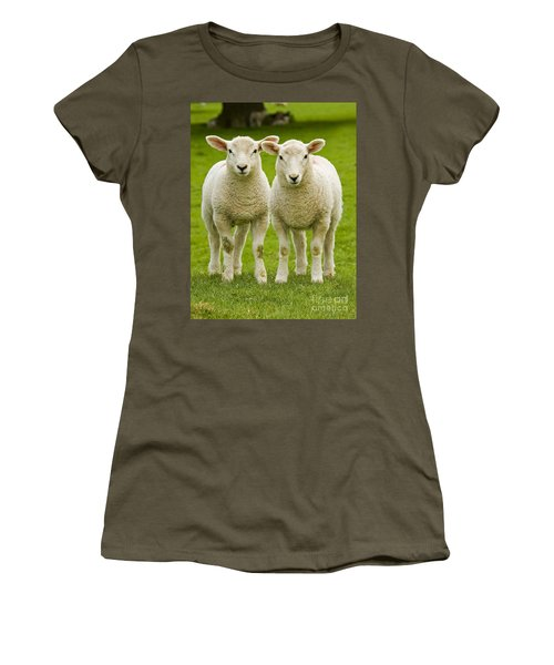 Twin Lambs Women's T-Shirt (Athletic Fit)