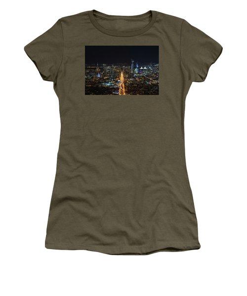 Twin Peaks Women's T-Shirt (Junior Cut) by Alpha Wanderlust