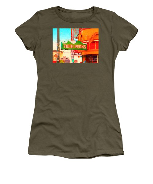 Twin Peaks Gay Bar In San Francisco . Painterly Style Women's T-Shirt