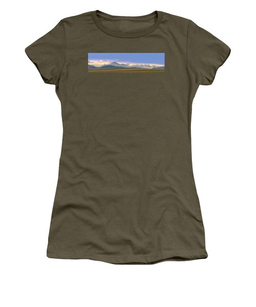 Twin Peaks Panorama View From The Agriculture Plains Women's T-Shirt