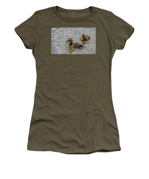 Two Baby Ducks Women's T-Shirt (Junior Cut)