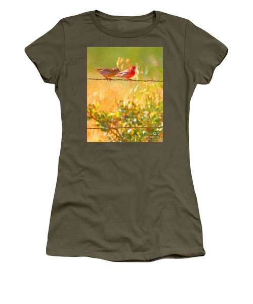 Two Birds On A Wire Women's T-Shirt
