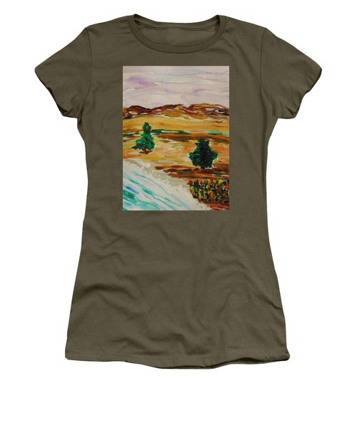 Two Cedars By The Sea Women's T-Shirt (Athletic Fit)