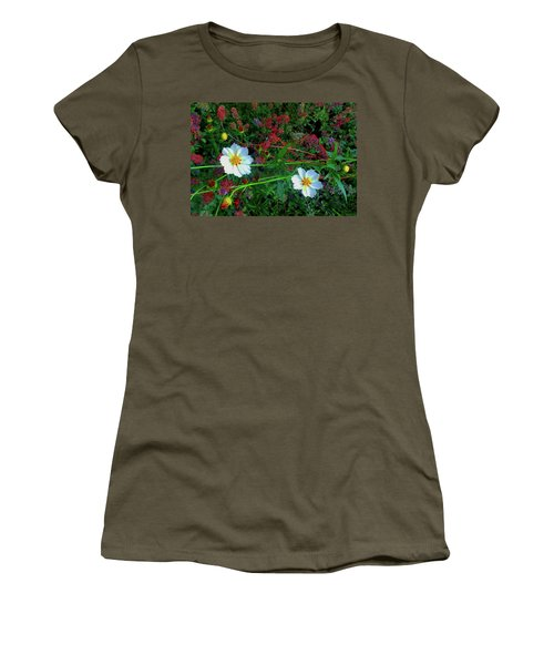 Women's T-Shirt (Athletic Fit) featuring the photograph Two Daisies by Roger Bester