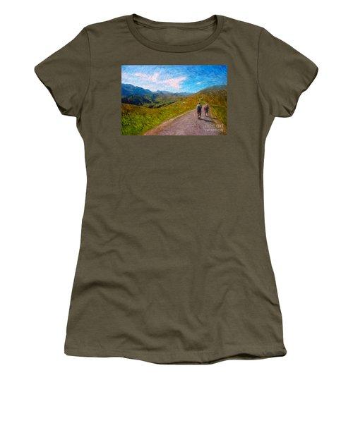Two Hikers In Adelboden Women's T-Shirt (Junior Cut)
