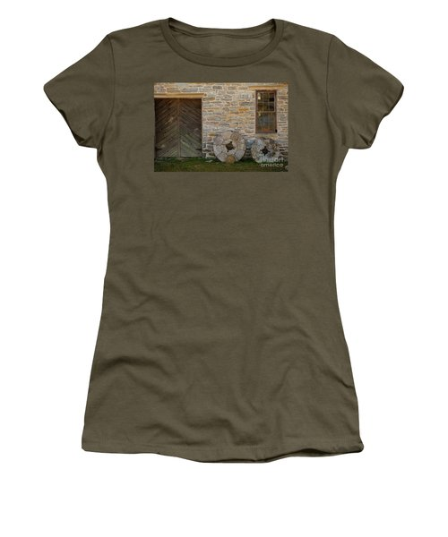 Two Mill Stones Against Building Women's T-Shirt