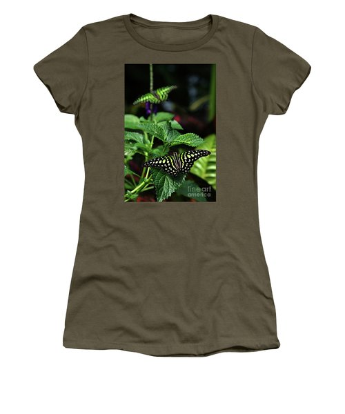 Two Tailed Jay Butterflies- Graphium Agamemnon Women's T-Shirt