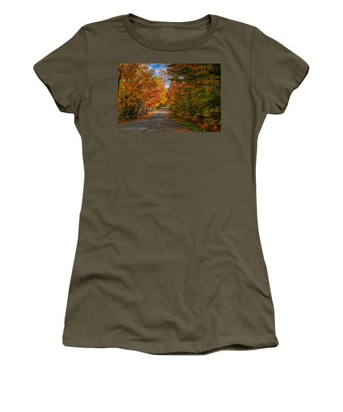 Typical Vermont Dirve - Fall Foliage Women's T-Shirt
