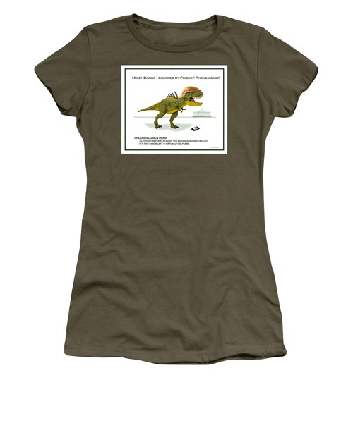 Tyrannosaurus Rump Women's T-Shirt (Athletic Fit)