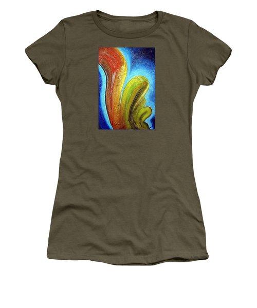 Women's T-Shirt (Junior Cut) featuring the mixed media Tzunami by Dragica  Micki Fortuna