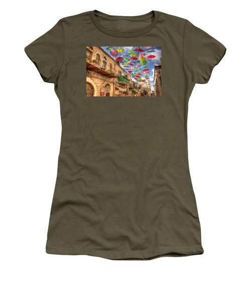 Umbrellas Over Jerusalem Women's T-Shirt