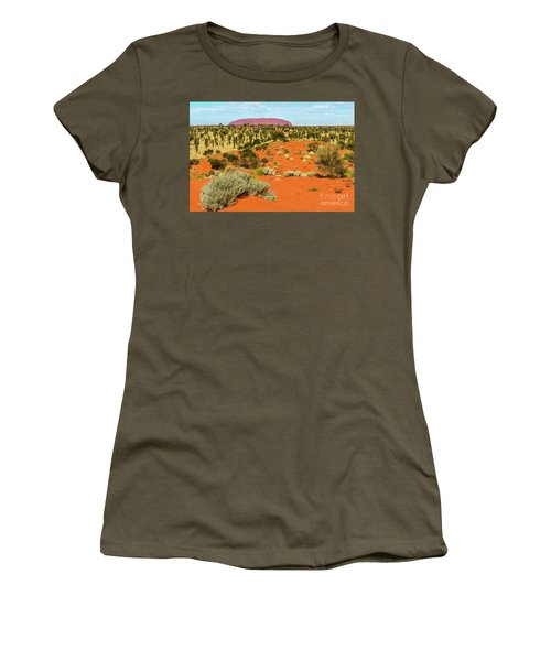 Women's T-Shirt (Athletic Fit) featuring the photograph Uluru 01 by Werner Padarin