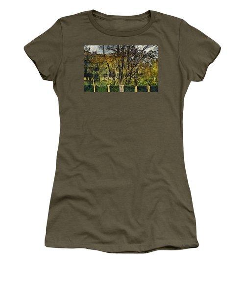 Un Cheteau Dans Le Paradis - One Of Two  Women's T-Shirt (Junior Cut) by Sir Josef - Social Critic -  Maha Art
