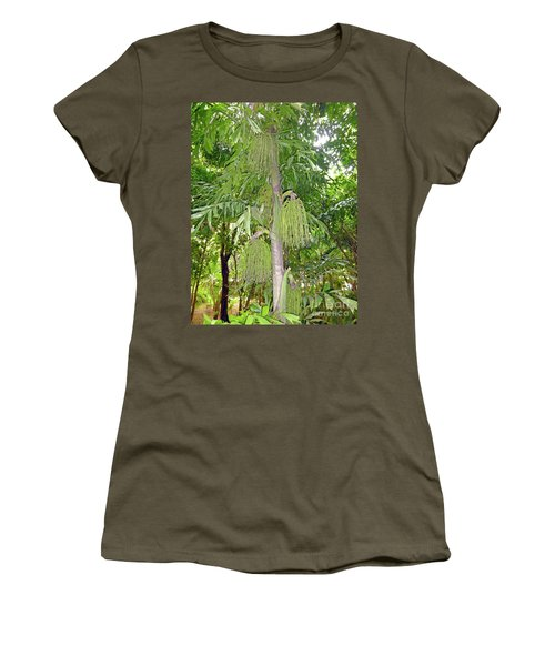Women's T-Shirt (Athletic Fit) featuring the photograph Under A Tropical Tree by Francesca Mackenney