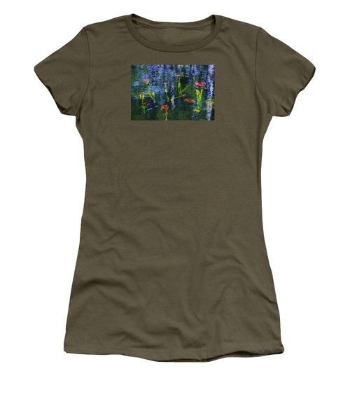 Women's T-Shirt (Junior Cut) featuring the photograph Underwater Lilies by Sean Sarsfield
