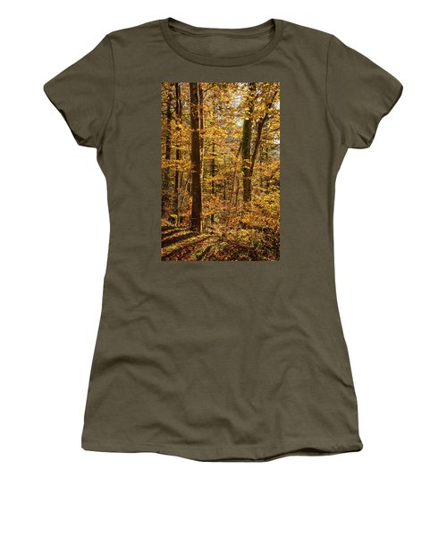 Women's T-Shirt (Athletic Fit) featuring the photograph Unfallen by Geoff Smith