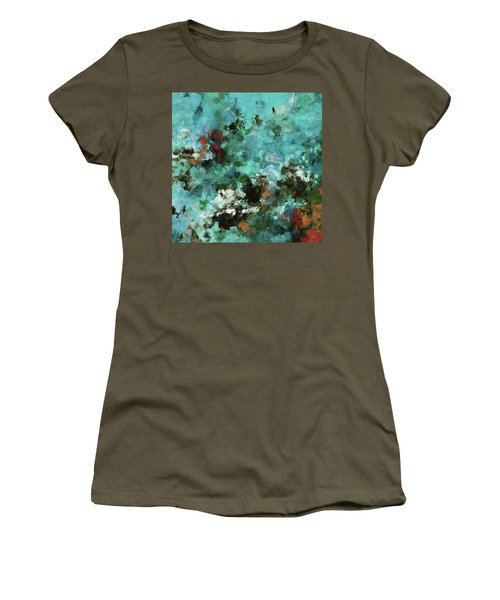 Women's T-Shirt (Junior Cut) featuring the painting Unique Abstract Art / Landscape Painting by Ayse Deniz