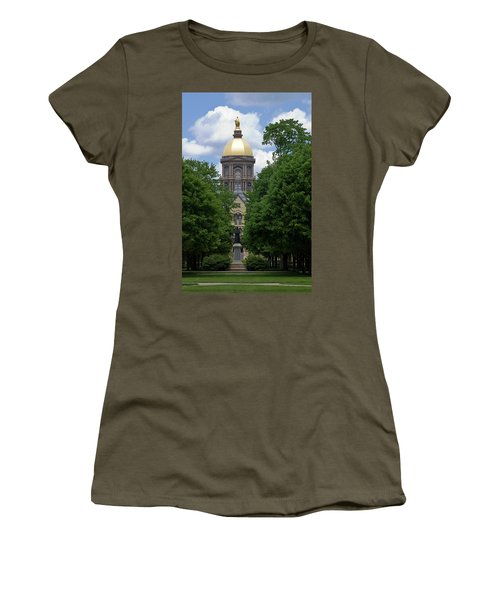 University Of Notre Dame Golden Dome Women's T-Shirt (Athletic Fit)
