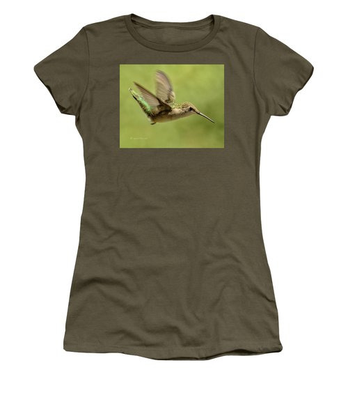 Untitled Hum_bird_one Women's T-Shirt (Athletic Fit)
