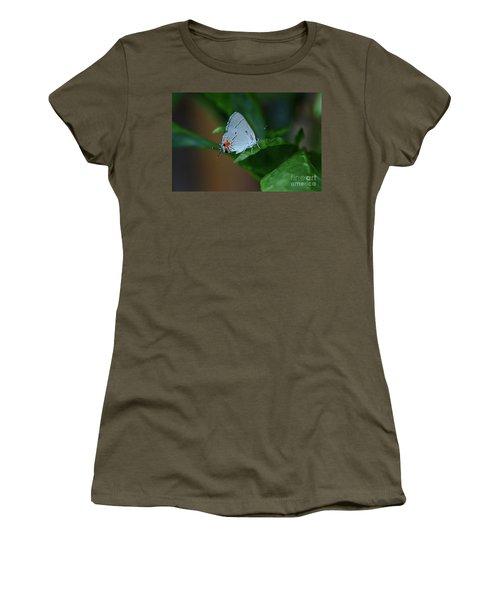 Unusual Butterfly Grey Hairstreak Strymon Melinus Women's T-Shirt (Athletic Fit)