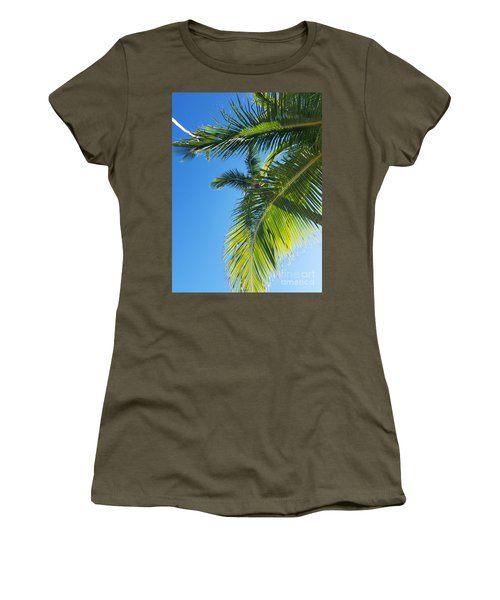 Up-palm Women's T-Shirt (Athletic Fit)