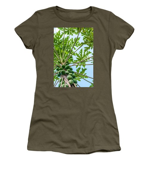Women's T-Shirt (Athletic Fit) featuring the photograph Up The Papaya by Denise Bird