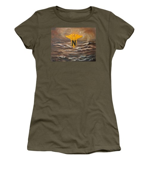 U.s. Army Nurse Corps Desert Storm Women's T-Shirt (Athletic Fit)