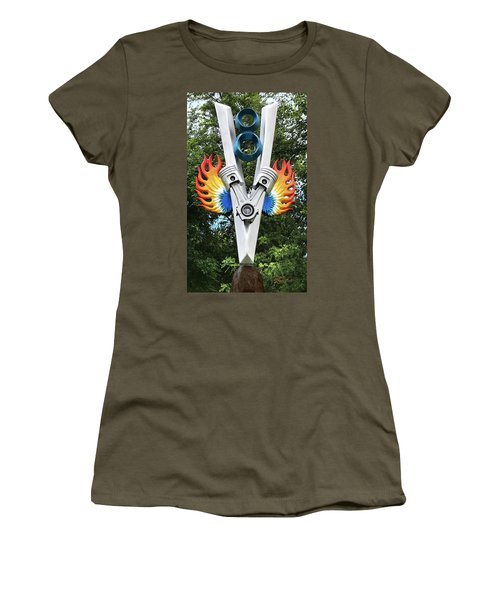 V8 Tree Carving  Women's T-Shirt (Athletic Fit)