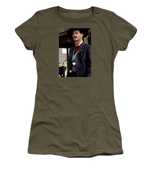 Val Kilmer As Doc Holliday Tombstone Set 1993-2015 Women's T-Shirt