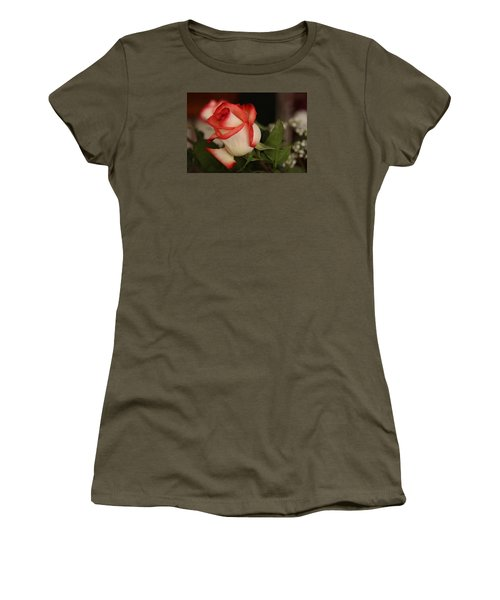 Valentine Rose Women's T-Shirt (Junior Cut) by Yvonne Wright